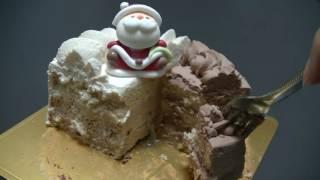 チョコレートとキャラメルケーキのハーフ&ハーフ。 詳細はブログへどう...