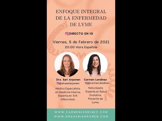 Tratamiento integral del Lyme - Directo de IG con Carmen Lendínez