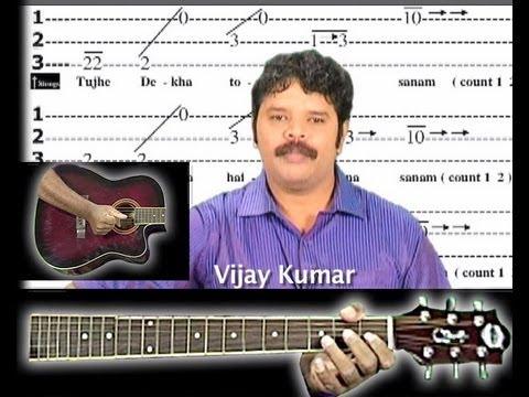 Guitar 1 string guitar tabs : Churaliya hai tum ne jo dil ko song on guitar tabs 1 - YouTube