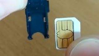 Micro SIM zu Nano SIM zuschneiden - in 5 Minuten!! Anleitung Tutorial | -[videotistik]-
