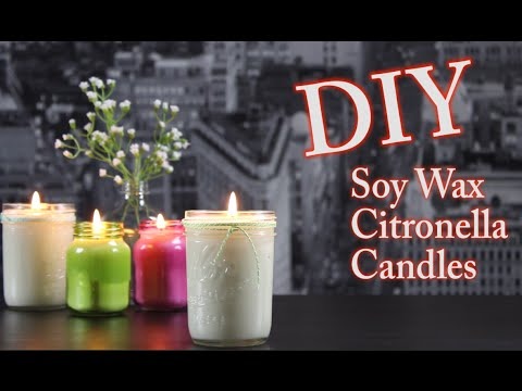 DIY Candles with Soy Wax and Citronella