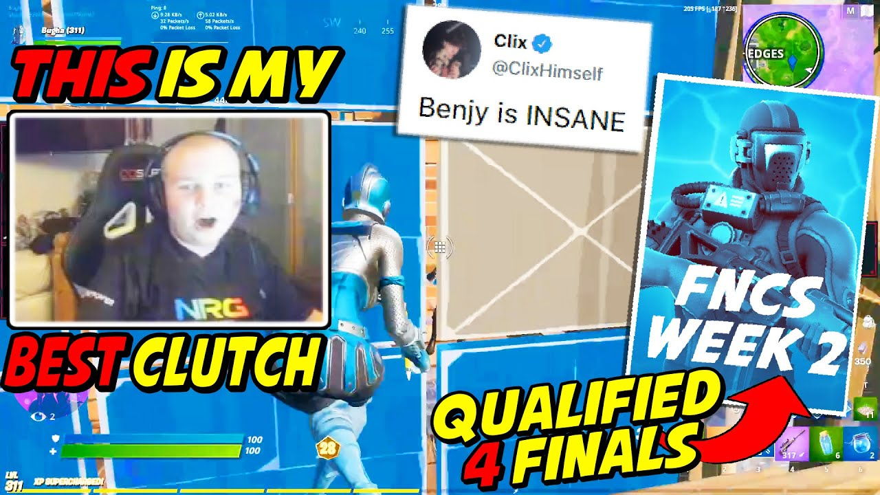 Benjyfishy Shakes The Competitive Scene With HIS Best Clutch EVER To Qualify For FNCS Finals Week 2