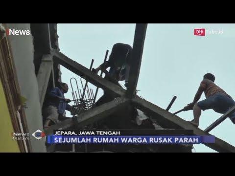 Puting Beliung Terjang Jepara, Sejumlah Rumah Rusak Parah Dan 8 Orang Terluka - INews Malam 24/03