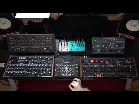 Ambient poly synth jam with the NDLR, Deckard's Dream, OB-6, Peak, Dreadbox Abyss, Polymoon, Big Sky