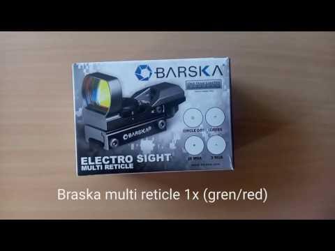 Коліматорний приціл Barska Multi Reticle 1x (Red / Green) (914803)