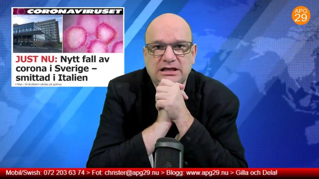 29 minuter -Ännu en person i Sverige är smittad av coronaviruset.