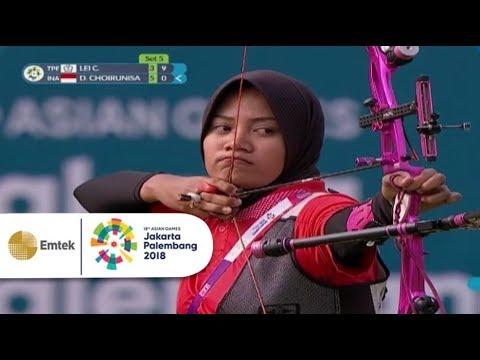 Highlight TPE vs INA - Panahan: Choirunisa Diananda Lolos ke Final | Asian Games 2018