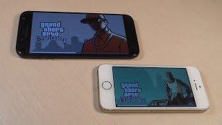 Samsung Galaxy J5 2017 vs iPhone 5S (HD)