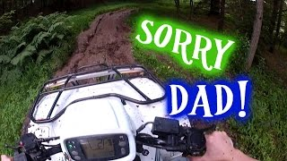 I buried dad's quad in mud! Honda foreman 500 4X4