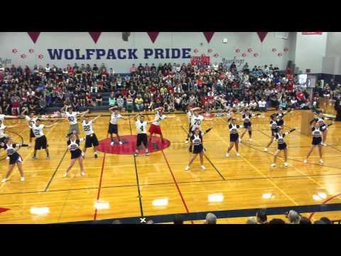 Black Hills High School - Cheer and Senior Football players