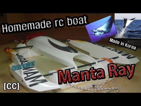 Homemade rc outrigger boats - YouTube