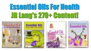 Essential Oils For Health and Wellness PLR Review Bonus - JR Lang's 270+ Pieces Of Content!