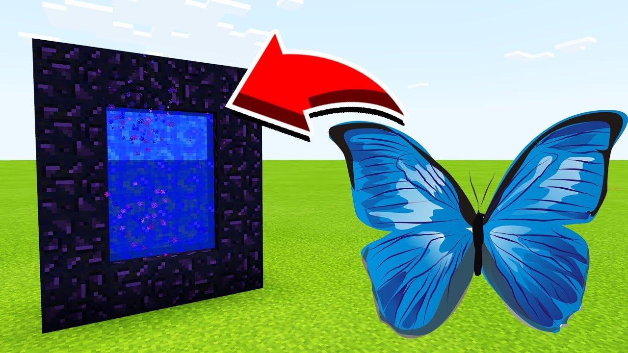 Бабочка в майнкрафт