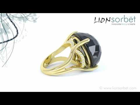 Black Onyx Bespoke Engagement Ring - Jewellery Video