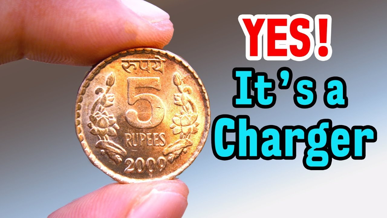 Charge Your Phone using COIN - Amazing Life Hack - Science Experiment