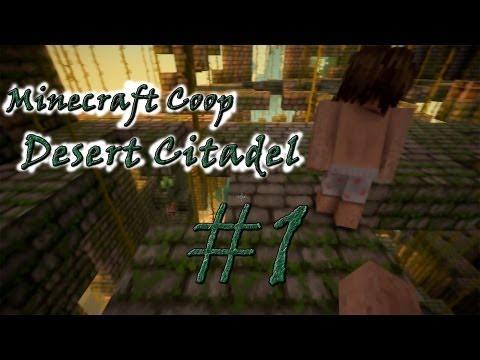 Смотреть прохождение игры [Coop] Minecraft Desert Citadel. Серия 1 - Приключение начинается.
