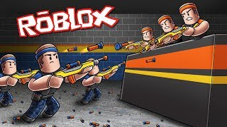 Roblox Nerf War: BASE DEFENSE CHALLENGE! (Nerf Gun Game)