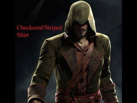 Assassins Creed Unity Green Asassin Cosplay Striped Shirt ...