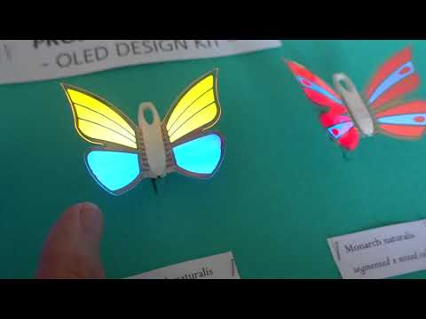 Fraunhofer FEP Project Monarch - flexible transparent segmented OLED lighting review