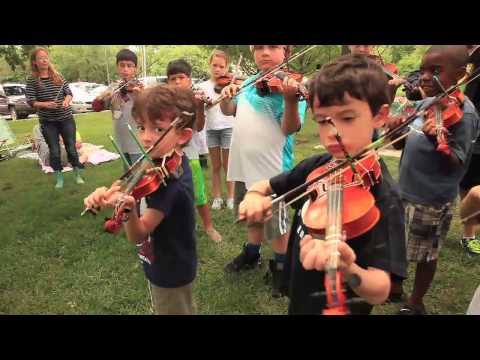 Lawrence violin students perform in South Park