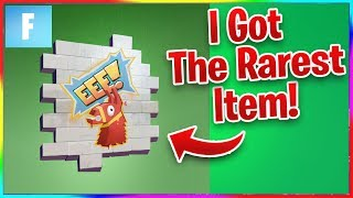 """HOW I GOT THE RAREST ITEM IN FORTNITE! THE """"EEE!"""" SPRAY! (And How to Get It)"""