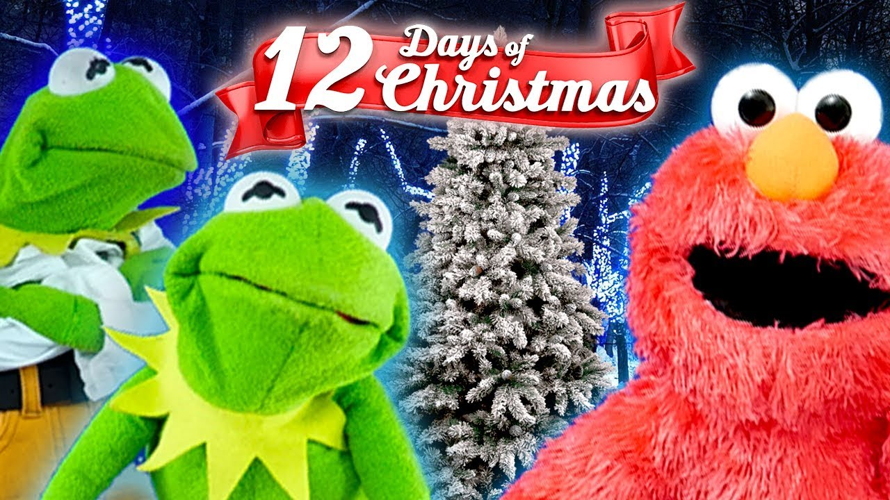 Elmo and Kermit The Frogs 12 Days Of Christmas ft Cookie monster ...