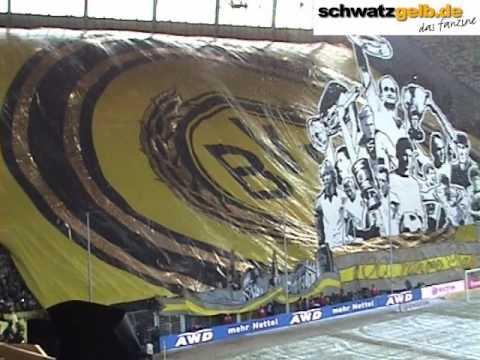 100 Jahre BVB-Freiburg Choreo zum 100. Geburtstag von Borussia Dortmund BVB - SCF Video Atmo