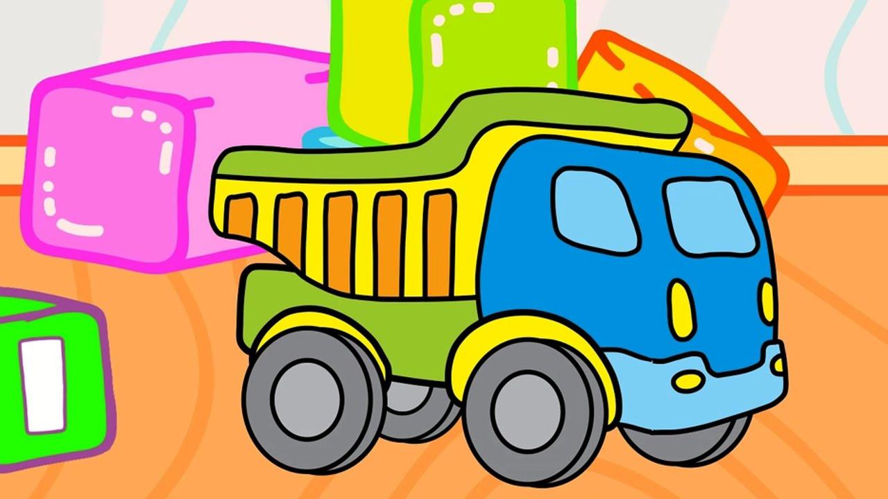 Camión de volteo - Carros para niños - Carros con colores - YouTube