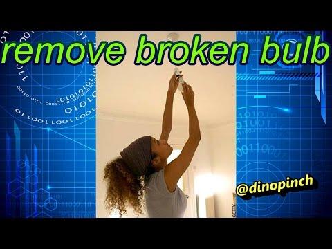 Handy Tip Removing A Broken Lightbulb Doovi