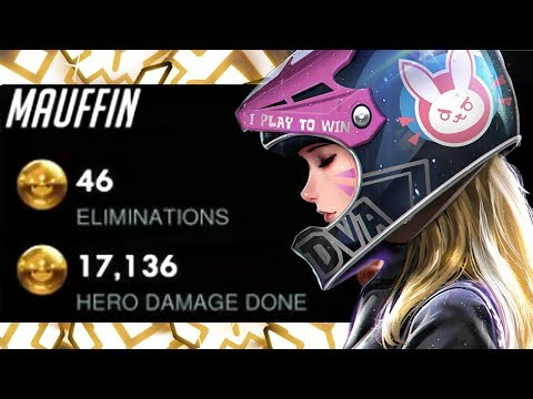 MOUFFIN PRO DVA! 46 ELIMS![ OVERWATCH SEASON 18 TOP 500 ]
