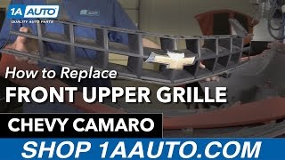 How to Replace Install Front Upper Grille 11 Chevy Camaro