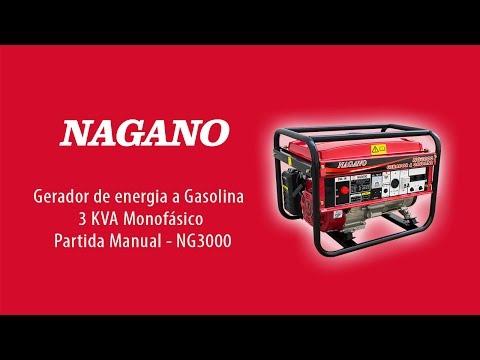 992b5488f4d AgrotamA -Gerador de Energia a Gasolina 3 kVA Monofásico partida manual 110 220v  - NG3000