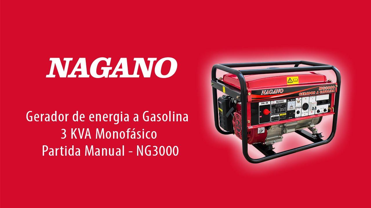 b2dff4db277 Gerador de energia a Gasolina 3 KVA Monofásico Partida Manual ...