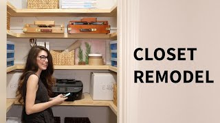 Office closet renovation | Organization / remodel ideas | How to