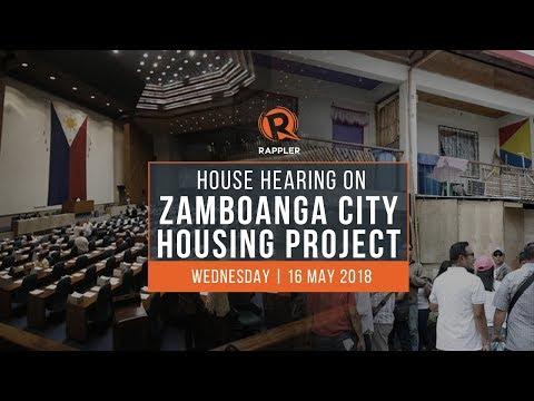 LIVE: House hearing on Zamboanga City housing project
