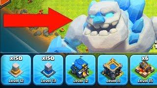 UNLOCKING the ICE GOLEM + 50 Walls Left! TH12 Farm to Max | Clash of Clans