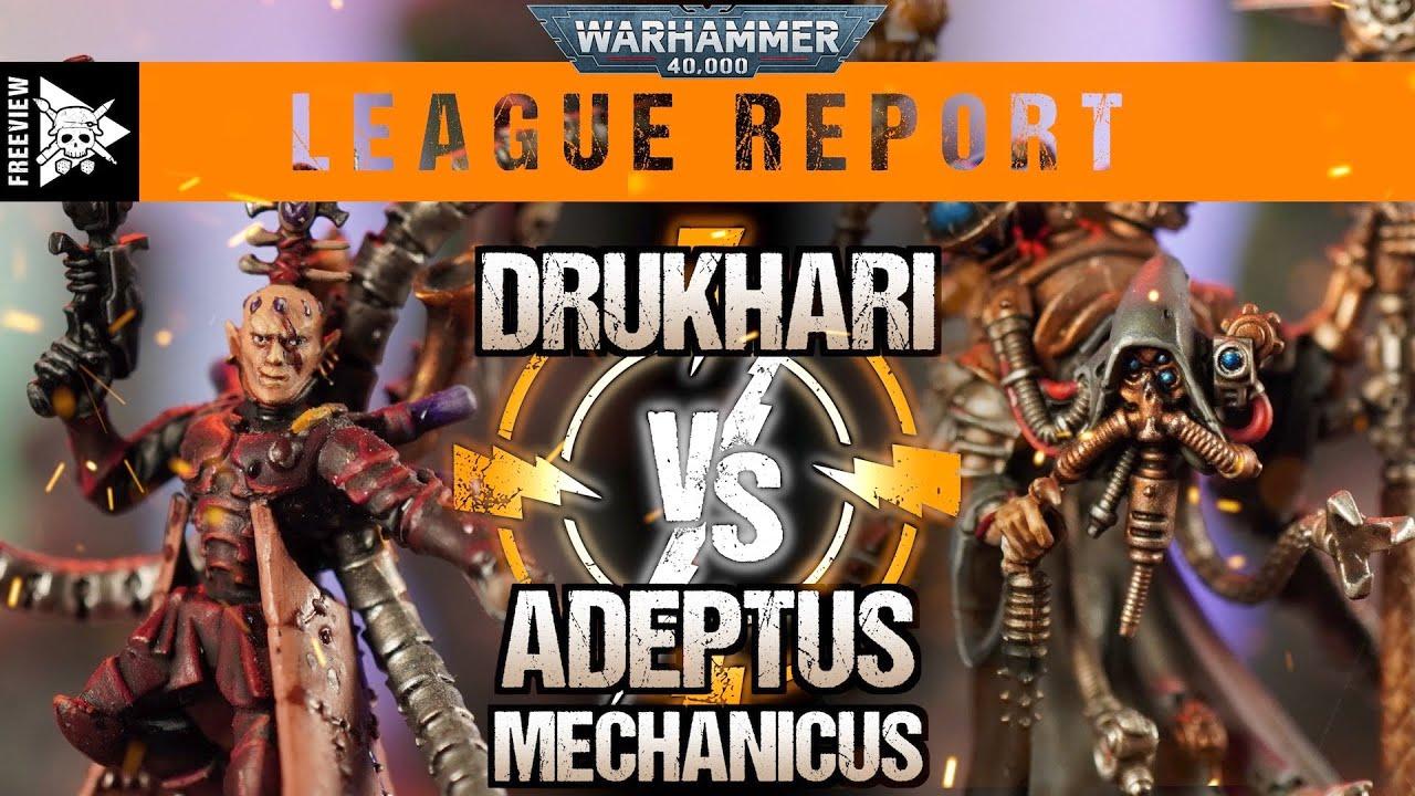 Drukhari vs Adeptus Mechanicus 2000pts | Warhammer 40,000 League Report