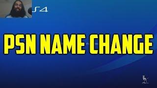 PSN Name Change   Change PSN Name Update