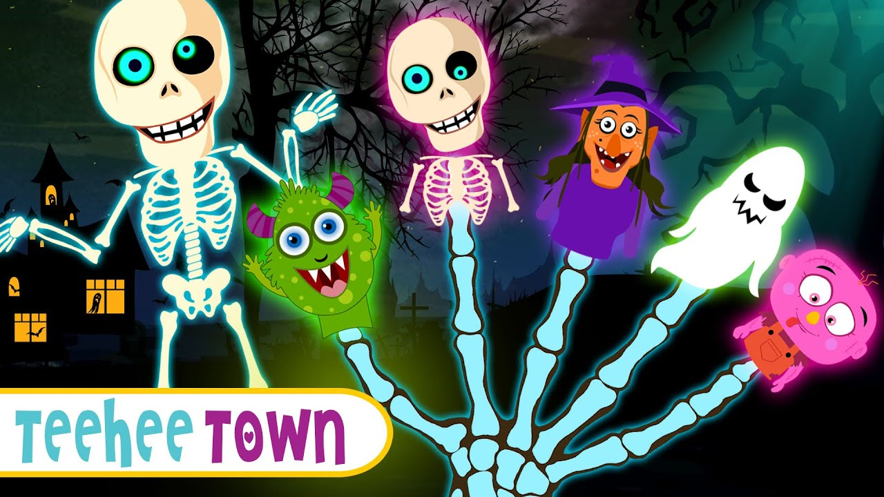Spooky Finger Family Collection | Scary Halloween Songs For Kids By Teehee Town