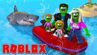 Zombie Roblox Family | Shark Bite | 4 Player