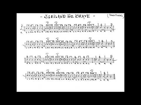 SCOTLAND THE BRAVE - Snare Drum Score