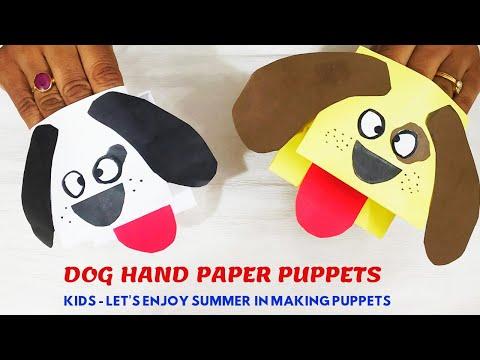 Summer Activity PART-1||Easy Hand Puppet||Dog Paper Puppet||1sheet Paper Puppet||DIY-KidsHand Puppet