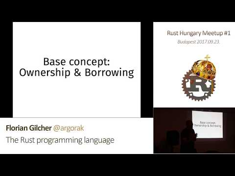 Florian Gilcher — The Rust programming language (Rust Hungary Kickoff, 2017-09-23)