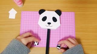[ASMR]でんでん太鼓を作ってみた papercraft (声なし-No Talking)[音フェチ]