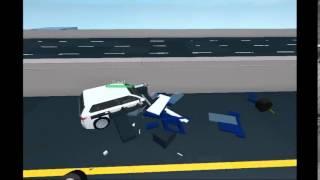 Roblox 2015 Allaxe Iridium and Transporter Van Rear End Collision Crash Test