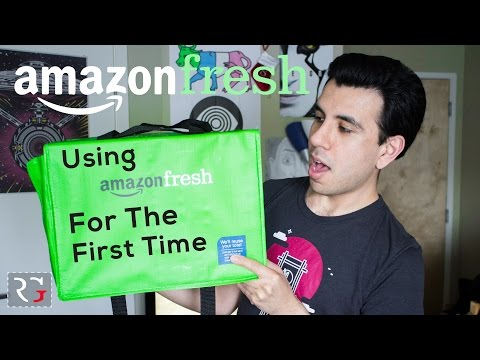AmazonFresh Delivery Review! | I Ordered Groceries Off the INTERNET!?!?