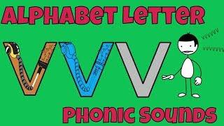 Alphabet Letter Phonic Sounds V - Easy Kids Songs