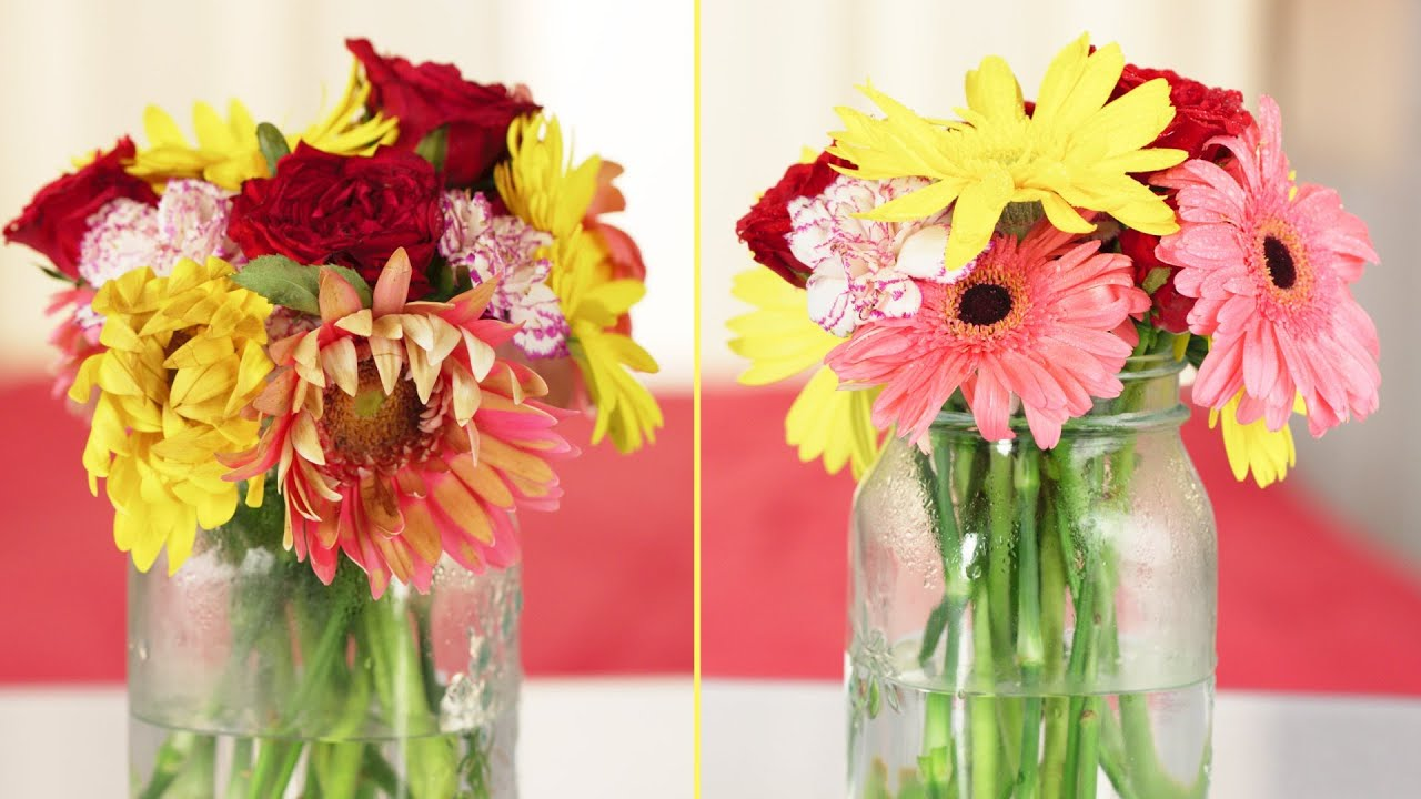 How To Make Flower Arrangements how to make your flower arrangements last longer - youtube