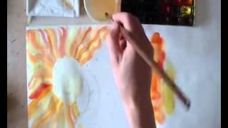 Учим Детей Рисовать  акварелью