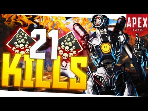 I Dropped 21 KILLS in Apex Legends! - PS4 Pro Apex Legends 20+ Kill Game!